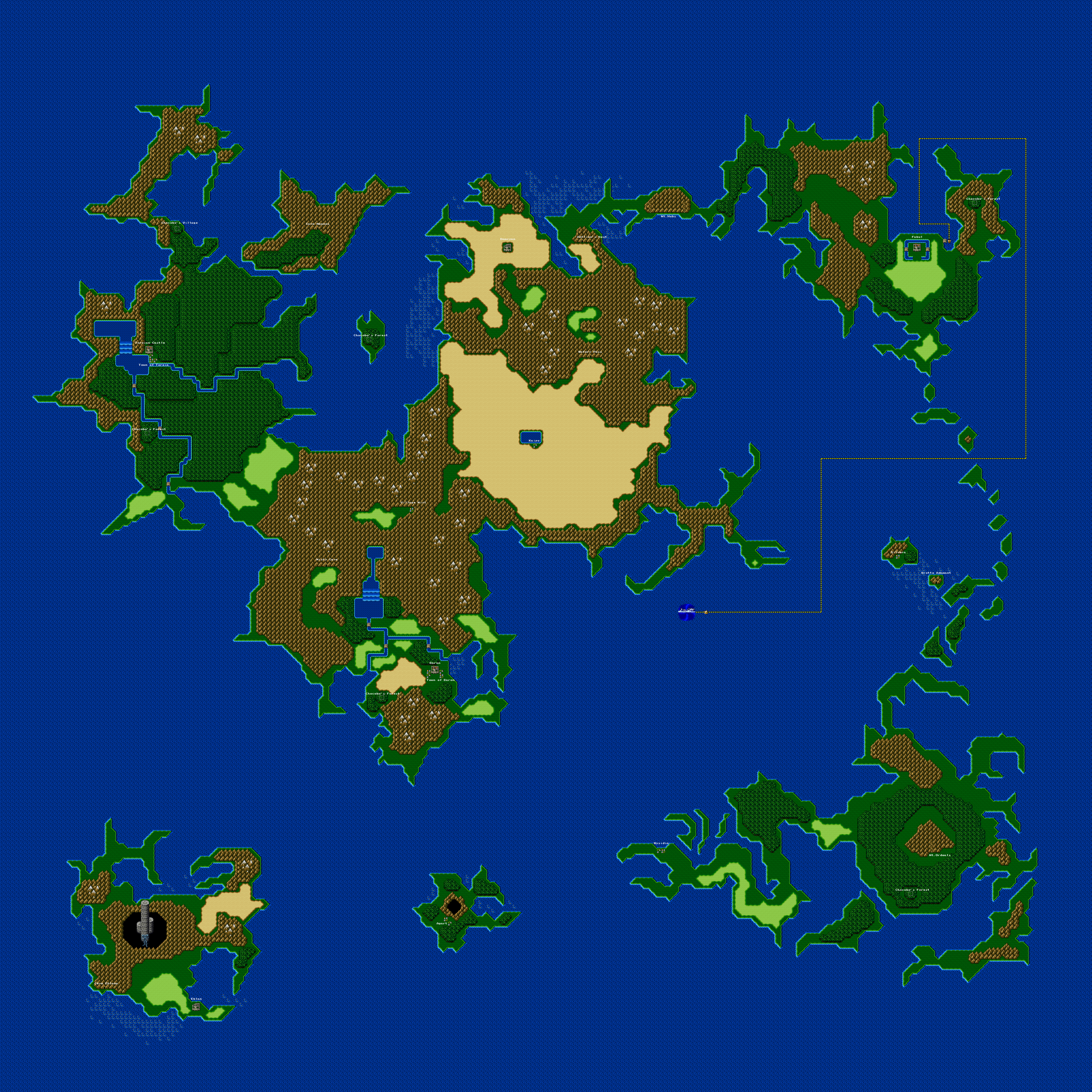 Final Fantasy II Game Maps - Ian-Albert.com