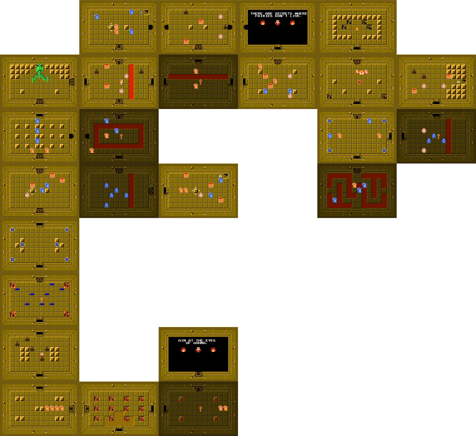 Legend Of Zelda Level 5 Map World Map Atlas
