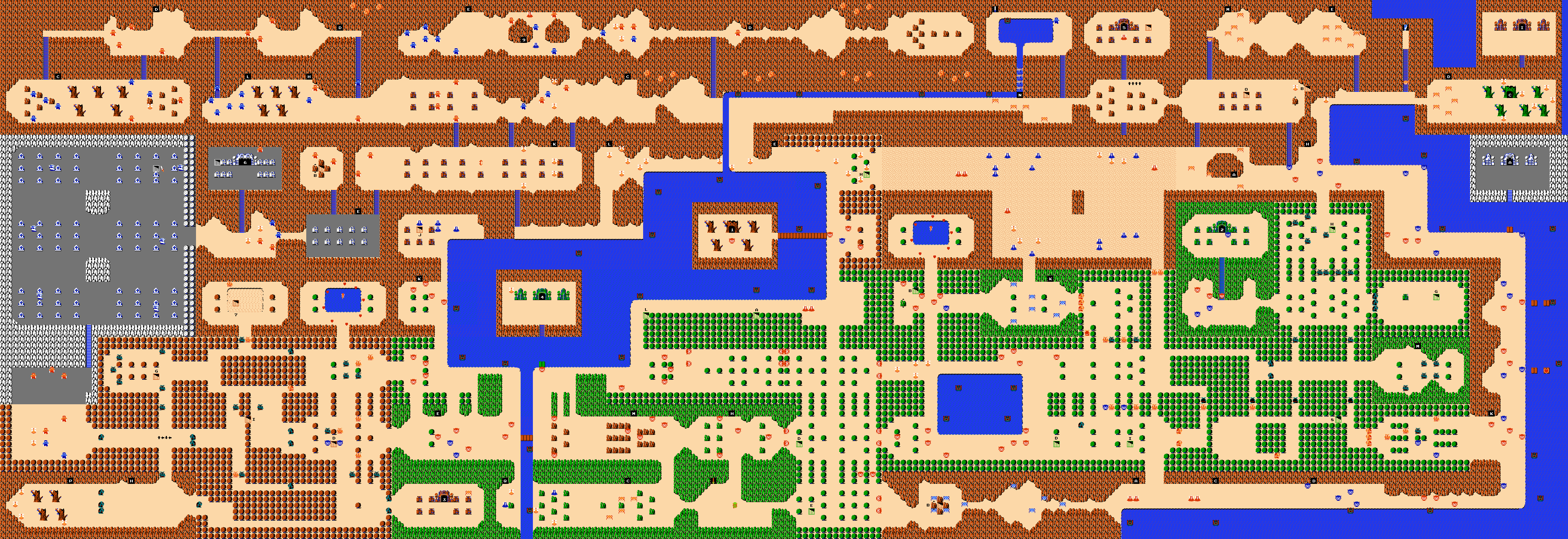 Legend of Zelda Maps - Ian-Albert com