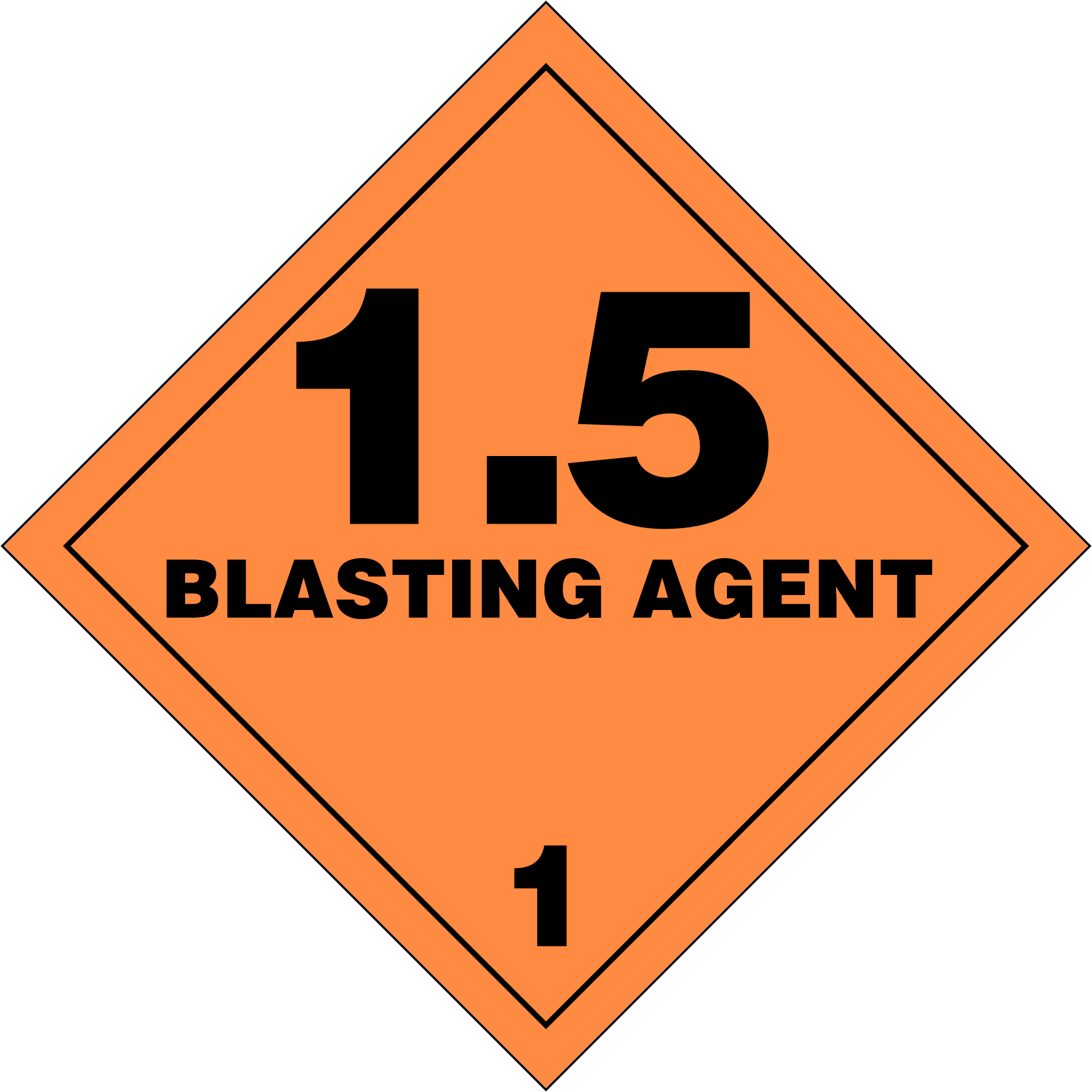 Inventive image for printable hazmat placards